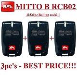 3 X BFT Mitto B RCB02 R1 handsender 2-kanal 433.92Mhz fernbedienung. Rolling code!!! Die neue Version von BFT Mitto2. 3 Stücke für den besten Preis!!!