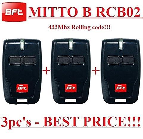 Telecommande Bft 02 - 3 X BFT Mitto B RCB02 R1