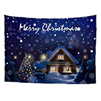 Designs4U FOR U DESIGNS Snowing Christmas Home Tapestry Xmas Blanket Room Wall Hanging Decoration S