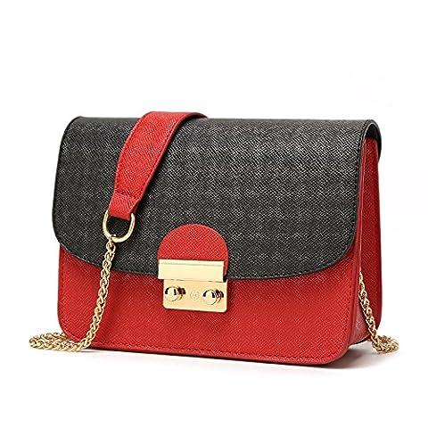 Mefly Mode Schulter Xiekua Paket Tasche einen großen schwarzen Schleier