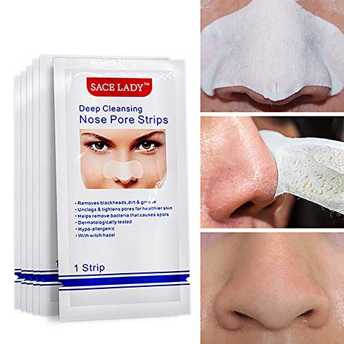 Xiton punti neri cerotti punti neri 10 pezzo maschera punti neri strisce poro di pulizia profonda dei pori maschera per la pulizia delicata strisce detergenti senza olio per naso