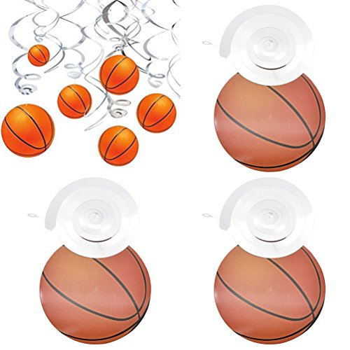 Hongma 10pcs Ornamente Girlanden mit Spirale Basketball Anhänger Party Dekor -