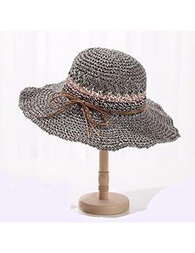 LVLIDAN Sombrero para el sol del verano Dama SolAnti-sol Beachstrawhat gris