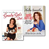 Nadia Sawalha Greedy Girl's Diet 2 Books Collection Set,Eat yourself slim with gorgeous, guilt-free food & Second Helpings! Fab Food Fast for a Slim Life)