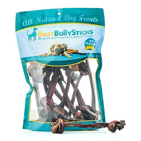 Bully Stick Knotted Pizzle Bone - 10 Pack, Dog Chews & Treats by Best Bully's