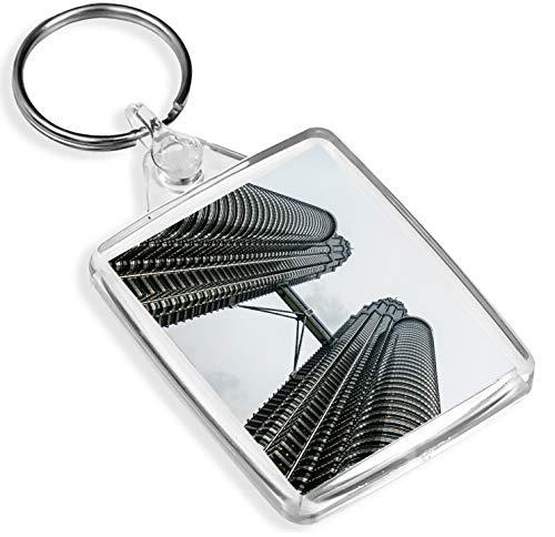 Petronas Towers Kuala Lumpur Keyring Malaysian Fun Schlüsselanhänger Gift # 15754 -
