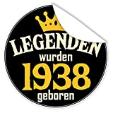 Legenden wurden 1938 geboren | Zur Personalisierung von Geschenken | Aufkleber | INKL.