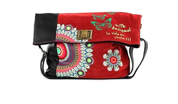 562f6a00fd Sac Besace Desigual Rouge et Noir IBIZA CANDY Simili Cuir 57X50T6 / 3000:  Amazon.fr: Chaussures et Sacs