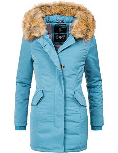 Marikoo Damen Winter Mantel Winterparka Karmaa XS-XXXXXL (vegan hergestellt) Hellblau Gr. M