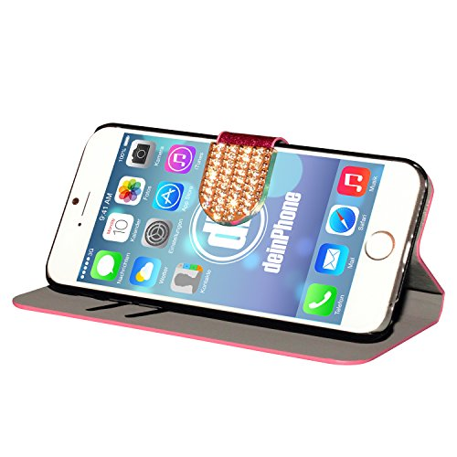 "deinPhone Étui pour iPhone 6 (4,7"") Paillettes/rose"