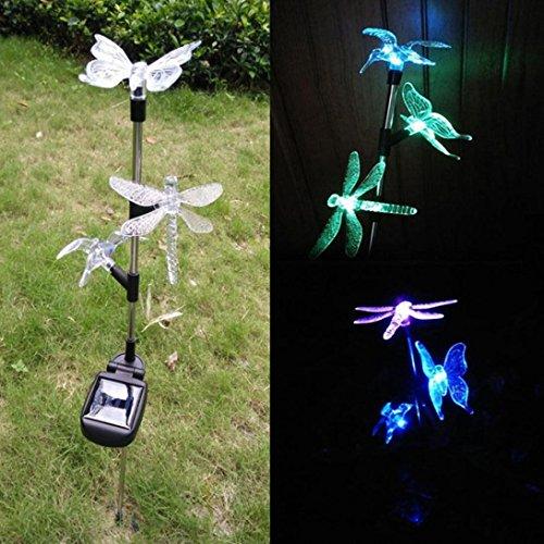 Hunpta cour pelouse Noël LED Animal Forme Énergie solaire Lumière lampe Décor de jardin d'extérieur