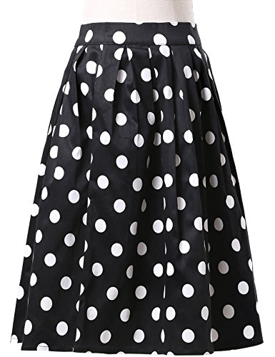 Damen Rockabilly Rock A Linie Vintage Retro Rock Swing Röcke CL6294