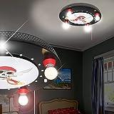 Piraten Decken Leuchte Ø490mm/ LED/ Schwarz/ Lampe Totenkopf Deckenlampe Deckenleuchte Kinderlampe Kinderleuchte Kinderzimmer Kinderzimmerbeleuchtung Kinderzimmerlampe Kinderzimmerleuchte