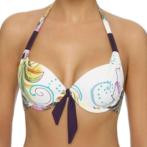 LingaDore Bikini Top Belize mit Bügel & Softschalen Gr. 36 38 40 42 44 Cup A B C D E (42 A, Pastelfarben auf Weiss)