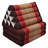 Kapok Thaikissen, Dreieckskissen mit drei Auflage - rot/weinrot
