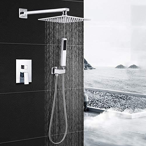 Conjunto de ducha de pared empotrada de ducha de cobre completo con...