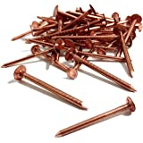 25, 30mm x 3.35mm COPPER CLOUT ROOFING NAILS - ALSO USED FOR TREE STUMP REMOVAL - DIY