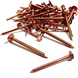 25, 50mm x 3.35mm COPPER CLOUT ROOFING NAILS - ALSO USED FOR TREE STUMP REMOVAL - DIY