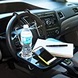 #4: NIKAVI Auto Tray, Eating/Laptop Steering Wheel Desk & Cup Holder Car/Truck-car accessories