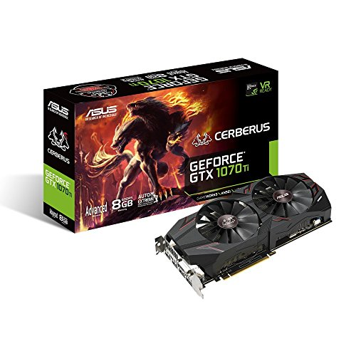 Price comparison product image ASUS GeForce GTX 1070 Ti Cerberus A8G 8 GB GDDR5 Graphics Card - Black