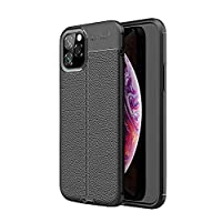 Litchi texture Defender Protective Case for 2019 6.5 Inch iPhone 11 Pro Max (Black)