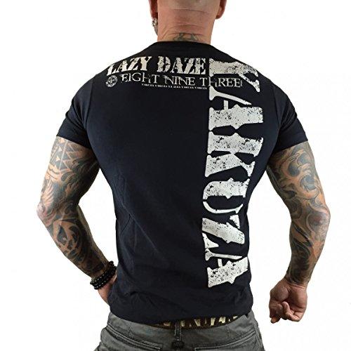 Yakuza Original Herren Lazy Daze T-Shirt - Schwarz Schwarz