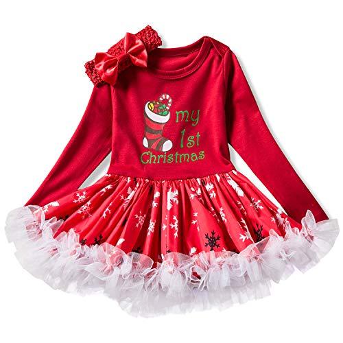 NNJXD Infant Girls Weihnachten Karneval Kostüm Neugeborenes Baby -