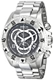 Invicta Excursion Men's Mechanical Watch with Grey Dial  Chronograph display on Silver Stainless Steel Bracelet 5524