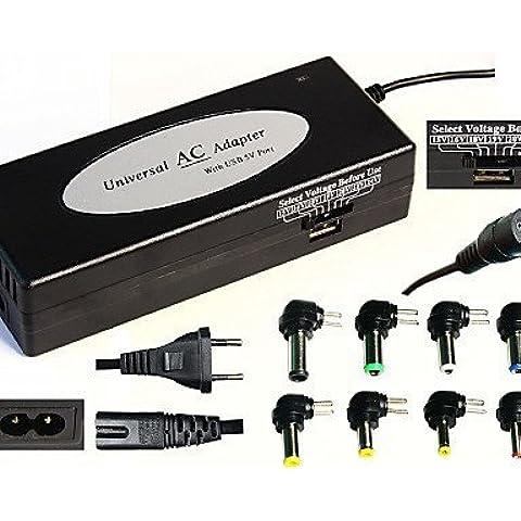 casa&alimentatore portatile universale utilizzato a più funzione di interfaccia usb 120w nero