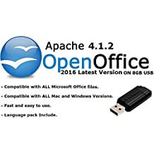 Apache Open Office 2016 Home Student Professional for Microsoft Windows & Mac OS X - ON 8GB USB