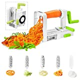 Spiralizzatore, Affettaverdure a spirale di verdure, Deik pieghevole a spirale affettatrice, Best Zucchini noodle & Veggie pasta e spaghetti Maker