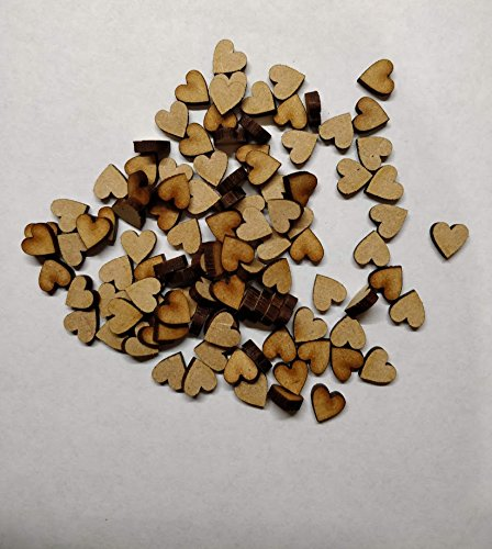 LaserKris Wooden hearts for craft 100 pack 10mm (1cm) size