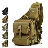 Tactical Sling Bag Pack Military Rover Schulter Sling Rucksack Umhängetasche für die Jagd Camping Trekking,Wüste Digital