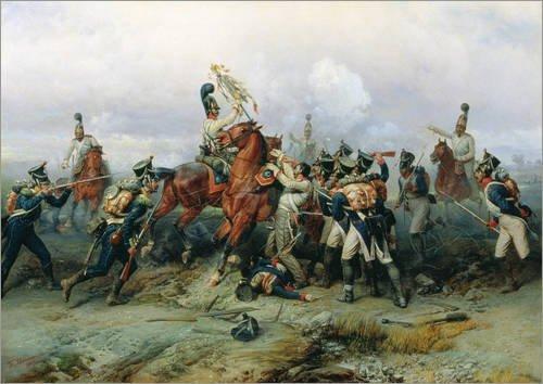Poster 40 x 30 cm: Die Heldentat des berittenen Regiment in der Schlacht bei Austerlitz von Bogdan...