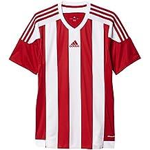 adidas Striped 15 JSY Camiseta de Equipación, Niños, Rojo (Power Red) /