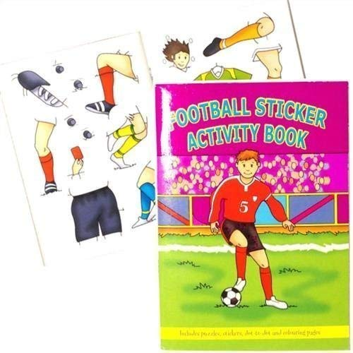 Football Activity Books (Pack of 6) by Party Bags 2 Go - Graham Spa