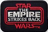 Star Wars The Empire Strikes Back schwarz Bordüre bestickt abzeichen Patch Aufnäher oder zum Aufbügeln 7,5cm x 5cm