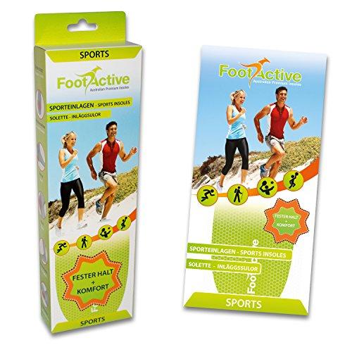 FootActive SPORT - Einlegesohlen für Sport, Freizeit und Beruf - 44 - 45 (L) - 4