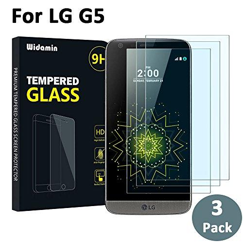 2pack lg g5 vetro temperato, pellicola in vetro,widamin garanzia a vita,durezza 9h, per lg g5 in vetro,gratuito 1 pack pet pellicola