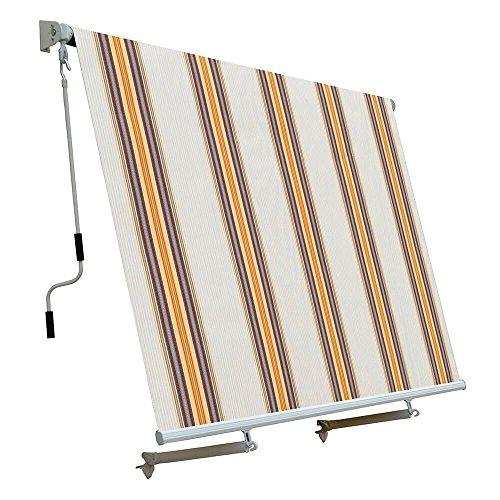 Ranieri tenda da sole a caduta con bracci 250x300 cm tessuto in poliestere riga beige