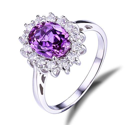 JewelryPalace Donna Gioiello 3.2ct Creato Alessandrite Zaffiro Principessa Diana William Kate Middleton Anello Argento Sterling 925 Regalo del Ringraziamento Natale