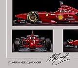 SGH SERVICES Neuf encadrée Michael Schumacher Ferrari F310autographe Formule 1Photo dédicacée encadrée Cadre en Panneau MDF Impression Photo