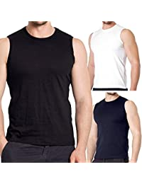 3er Pack Slim Fit Muscleshirt - Herren Body Fit Sleeveless T-Shirt - 3 Farben wählbar - 100% supergekämmte Baumwolle in Premium Qualität - Highest Standard - original CELODORO Exclusive