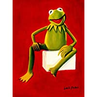Pop Art - Muppets - Kermit On Red 30x40 cm Oil Painting