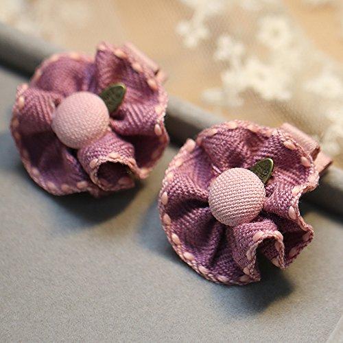 Tlue Tathtub Kinder- Haarspange Auf Stoff Blüten Süß Schönen Mädchen Haar Clip Clip Haarnadel Zubehör Seite Knallt, Vier, Violett (Der 12 Jährige Kostüme)