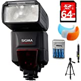 Sigma EF-610 DG ST Flash For Nikon DSLR Cameras (F19306) With 64GB Memory Card