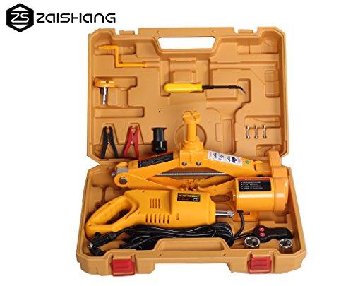 Kit ZS ZAISHANG con gato eléctrico 12V de2toneladas (de 12cm a 42cm) y pistola de impacto