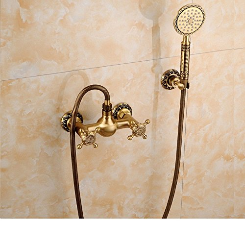 Kupfer Antik Dusche Vintage EuropäIsch Dusche Duschset Badewanne Dusche Mit Wasserhahn Dusche Sprinkler. (Vintage-kupfer-badewanne)
