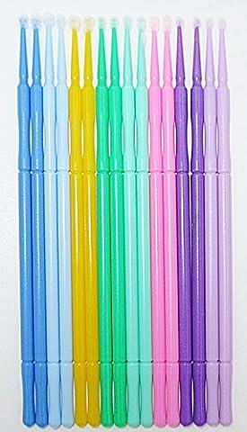 100 Stück Microbrush Microfaser - Fein 2,0mm - Reinigungsstäbchen für Wimpernverlängerung - Microbrushstäbchen