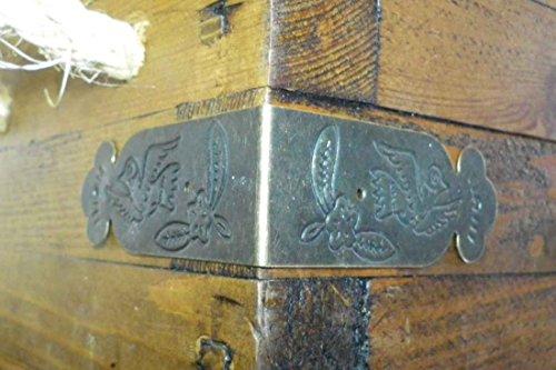 4 er-Set, Metall, Vintage-Stil, Antik-Messing, Ecken Hosenträger straps-Winkel, C085